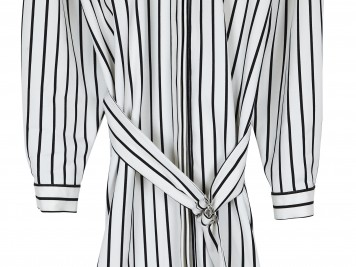 Heavy pinstripe shirt dress, ASOS, £55 - easy to wear but oh so chic.