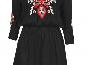 Embroidered smock dress, Boohoo, £25 - a pretty take on the 70s trend for work.